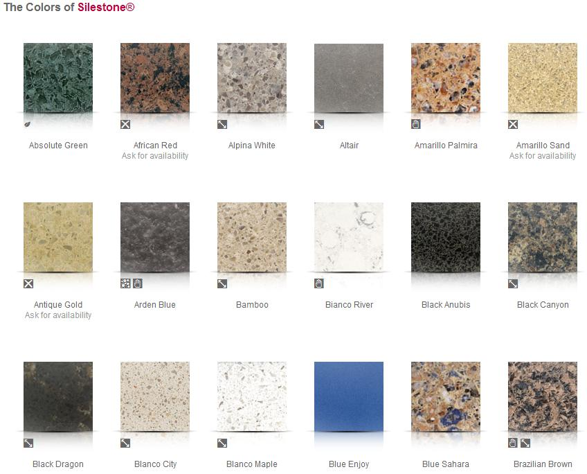 Sile stone colors for Silestone colores