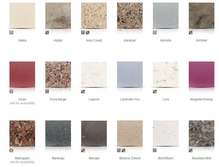 image gallery silestone colors